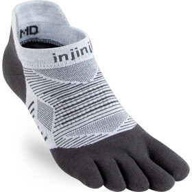 Injinji Run Lightweight No Show Socks Men, noir/blanc